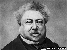 Writer Alexandre Dumas pictured in 1865