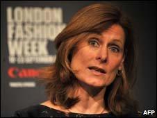Sarah Brown speaking at London Fashion Week