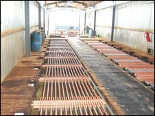 Rolls of copper
