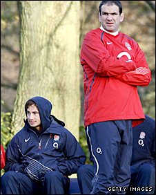 Danny Cipriani and England boss Martin Johnson
