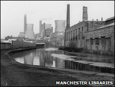 Manchester power station and Ashton canal