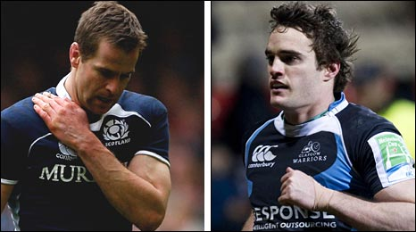 Chris Paterson and Thom Evans