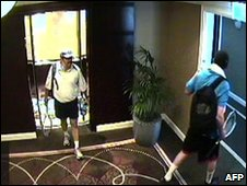 CCTV footage of alleged assassination team
