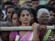 Sri Lankan opposition supporters