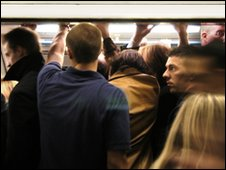 Crowded Tube train (Library)