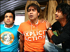 Tusshar, Ajay and Shreyas in Golmaal Returns
