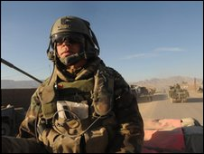 A Dutch soldier in Afghanistan