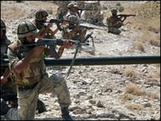 Pakistani soldiers in South Waziristan