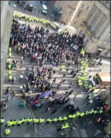 Anti-racism demo, pic by Tim Willis