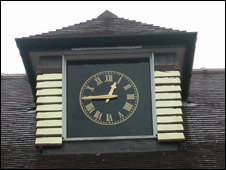 New clock for Platt Fields Park boathouse