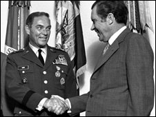Alexander Haig and Richard Nixon