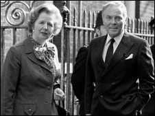 Alexander Haig and Margaret Thatcher