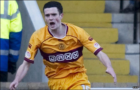 Motherwell striker Jamie Murphy