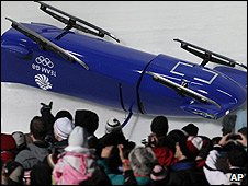 Britain's bobsleigh sled