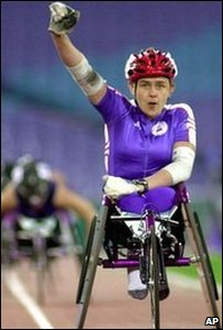 Dame Tanni Grey Thompson in action