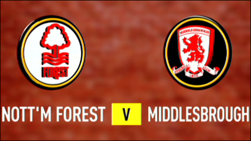 Nottm Forest 1-0 Middlesbrough