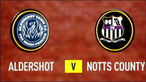 Aldershot 1-1 Notts County