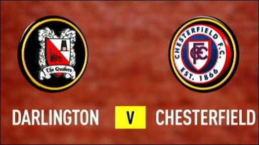 Darlington 2-3 Chesterfield
