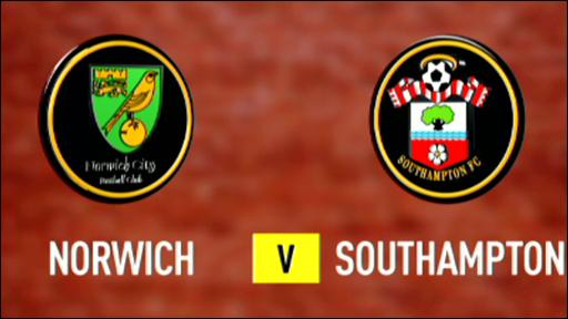 Norwich 0-2 Southampton
