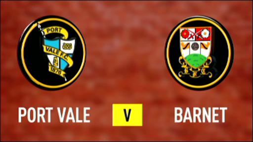 Port Vale 0-2 Barnet