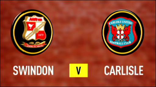 Swindon 2-0 Carlisle