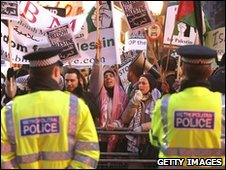 London protest against Israel's 2008 Gaza incursion