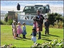Falkland Islands garden party
