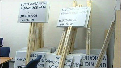 Strike placards