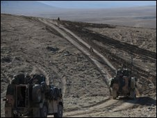File photo of Dutch soldiers on patrol in Uruzgan province