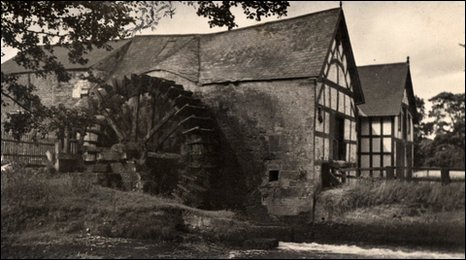 John Harrison (1877-1941) took this photo of Rossett Mill c1920. He toured the region by bike taking photos, according to grandson Mike.