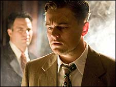 Leonardo DiCaprio with Mark Ruffalo in Shutter Island