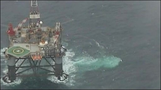 Oil rig off the Falklands