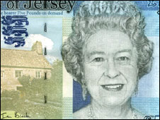 Her Majesty Queen Elizabeth II on the Jersey £50 note