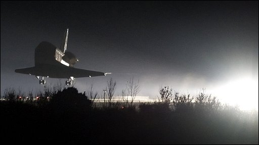 Endeavour lands (AFP)