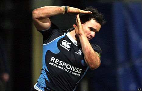 Max Evans dedicated a try scored this week for Glasgow to his injured brother Thom