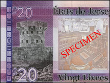 Jersey's new £20 note