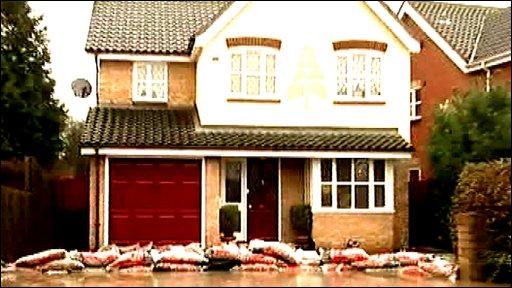 House with sandbags