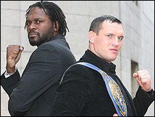 Audley Harrison (left) and Albert Sosnowski
