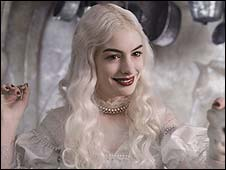Anne Hathaway in Alice in Wonderland