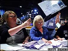 counting votes in Glasgow North East
