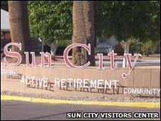 Sun City sign