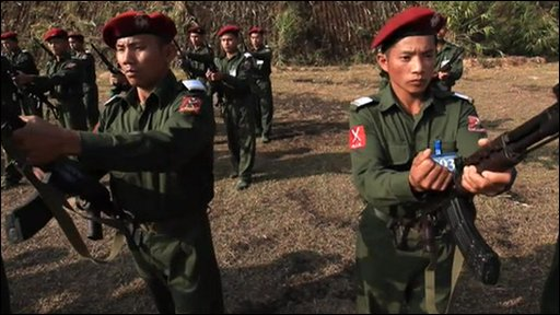 Kachin Independence Army in training