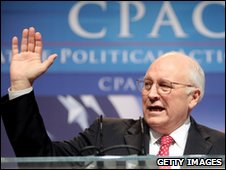 Former US Vice President Dick Cheney speaks at the annual Conservative Political Action Conference 18 February 2010