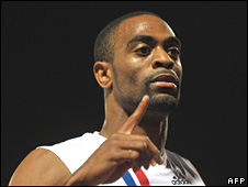 American sprinter Tyson Gay