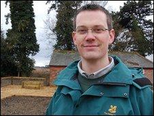 Head gardener, Andrew Hunt