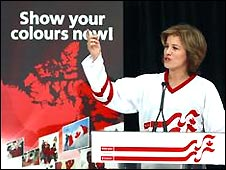 Olympic ice hockey champion Cassie Campbell at Scotiabank Show Your Colours event in Vancouver