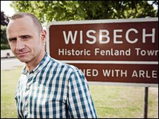 Evan Davis in Wisbech