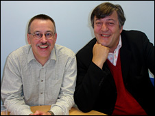 Prof Nick Craddok and Stephen Fry