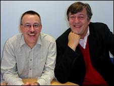 Prof Nick Craddok and Stephen Fry