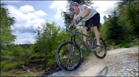 Mountain biker in Dalby Forest